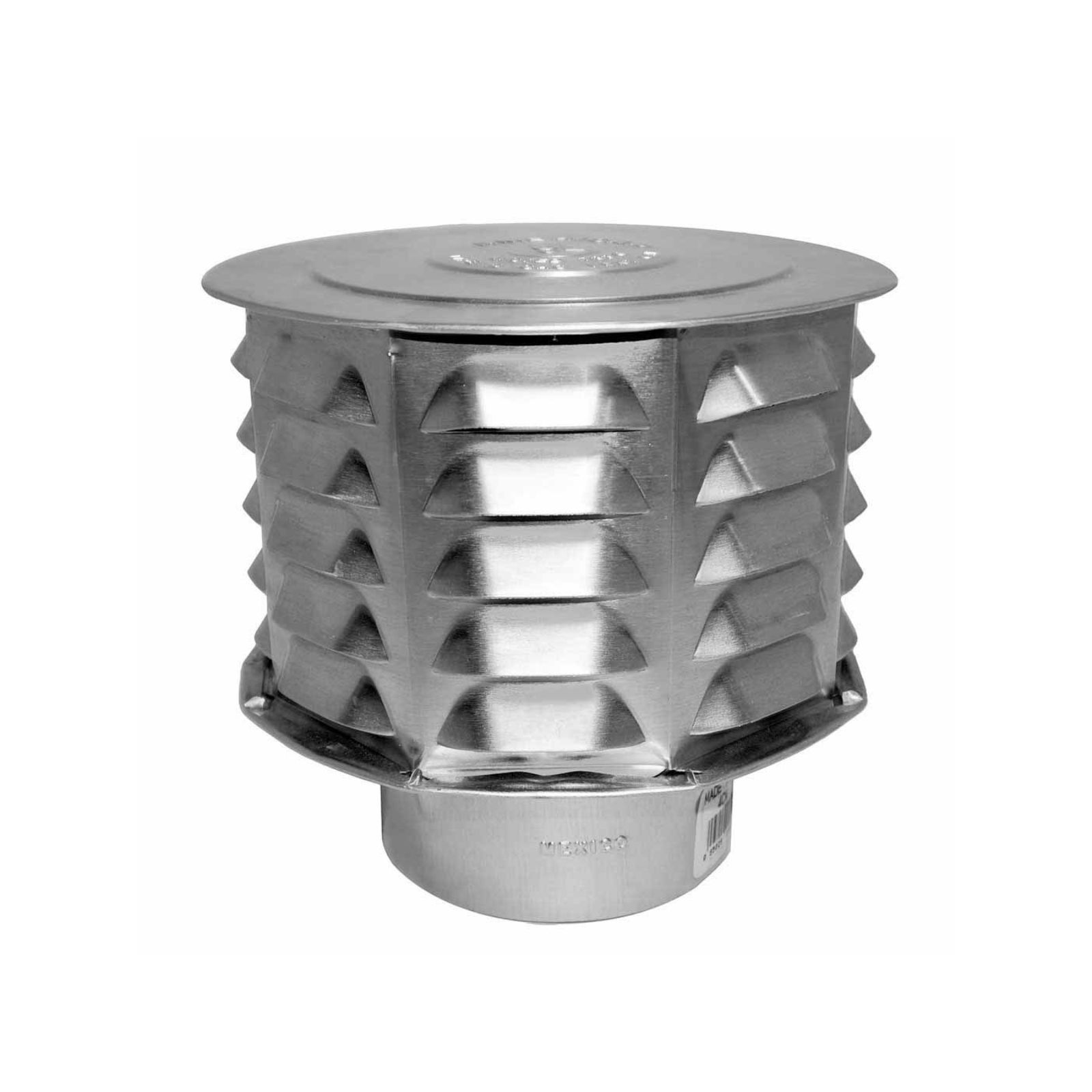 "AmeriVent 4CW - Universal Cap 4"", Louvered"