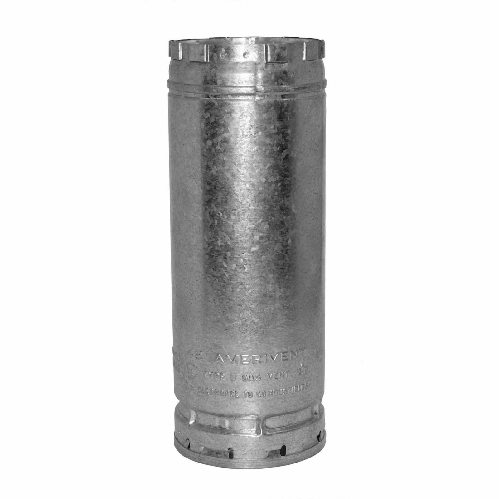 "AmeriVent 4E12 - Pipe Section Type B Gas Vent, 4"" Round X 12"" Length"