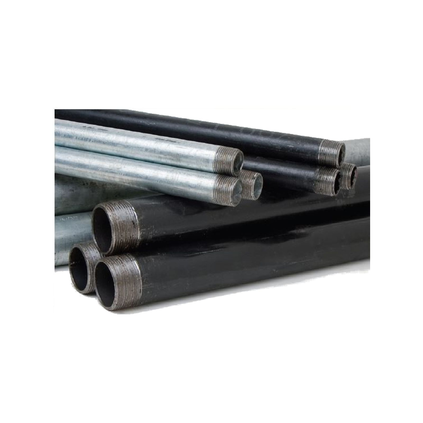 "Southland 583-1200HC - 1/2"" x 10' Black Threaded Steel Pipe"