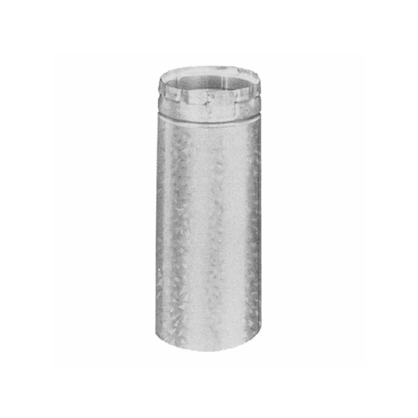 "AmeriVent 5E12A - Adjustable Pipe Section Type B Gas Vent, 5"" Round X 12"" Length"