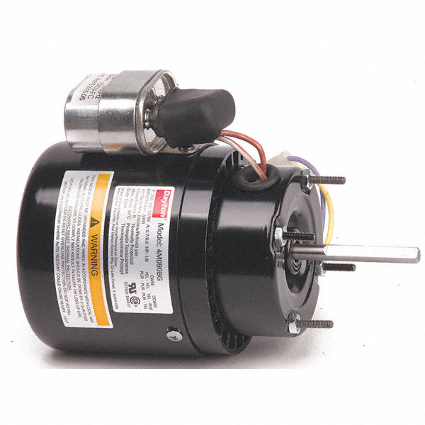 DAYTON 1/8 HP, HVAC Motor, Permanent Split Capacitor, 3000 Nameplate RPM, 230 Voltage, Frame 3.3
