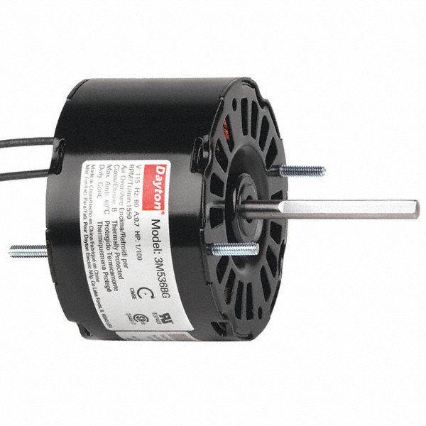 DAYTON 1/100 HP, HVAC Motor, Shaded Pole, 1550 Nameplate RPM, 115 Voltage, Frame 3.3