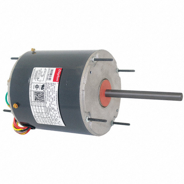 DAYTON 1/2 to DAYTON 1/5 HP Condenser Fan Motor,Permanent Split Capacitor,1075 Nameplate RPM,115 Voltage,Frame 48Y