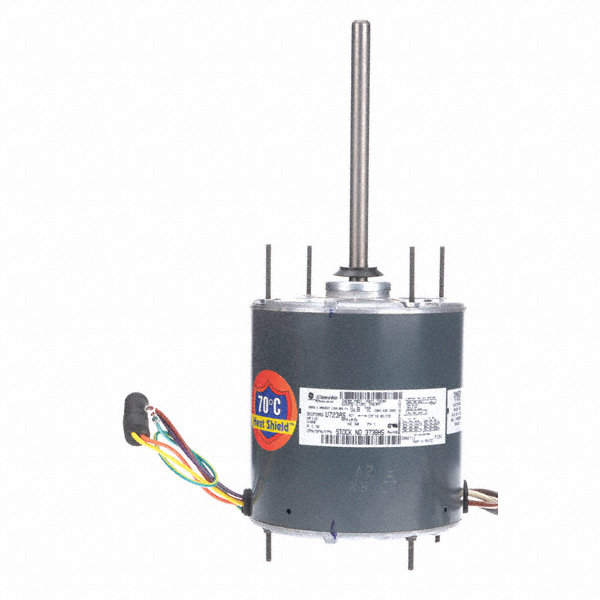 GENTEQ 1/2 HP Condenser Fan Motor,Permanent Split Capacitor,1075 Nameplate RPM,460 Voltage,Frame 48