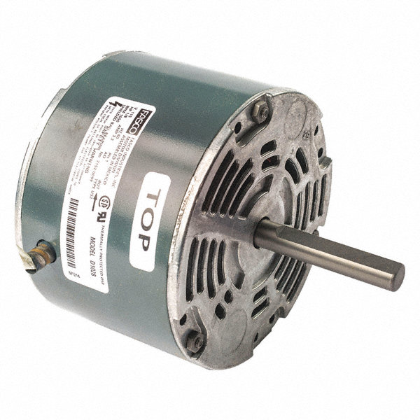 FASCO 1/8 HP Condenser Fan Motor, Shaded Pole, 1050 Nameplate RPM, 115 VoltageFrame Non-Standard