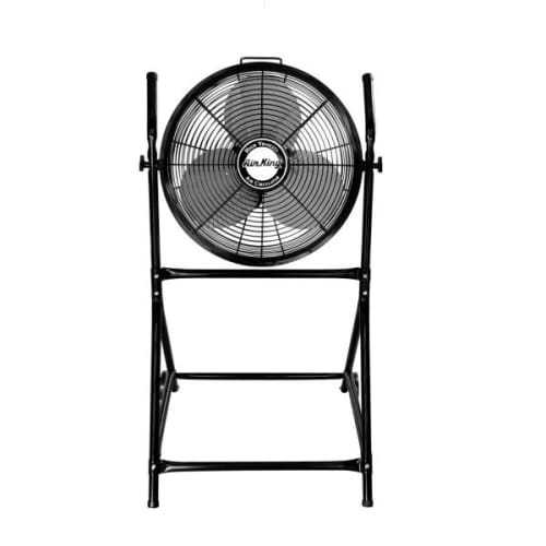Air King 9219 18' 3190 CFM 3-Speed Industrial Grade Floor Fan with Roll About Stand
