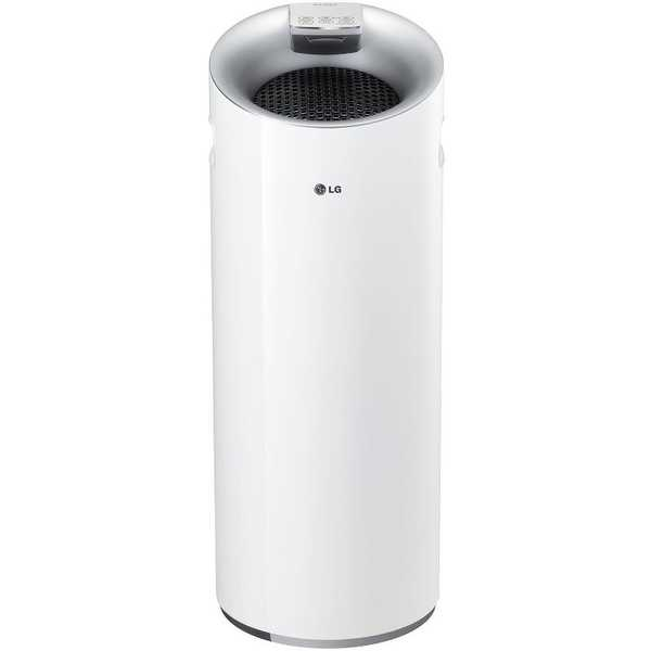 LG AS401WWA1 PuriCare Tower 3-Stage Filter Air Purifier with Smart Air Quality Sensor and LoDecibel - White