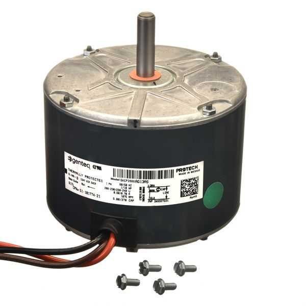 PROTECH 51-101774-21 - Condenser Motor - 1/10 HP 208-230/1/50-60 (1075 RPM/1 speed)