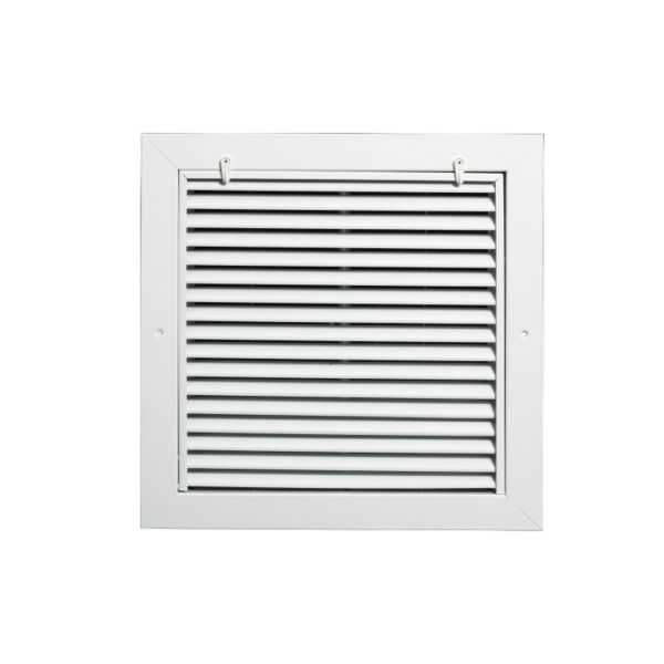 Grille Tech RAFGS1010 - Aluminum Return Air Filter Grille, Grille Size 10' X 10' White