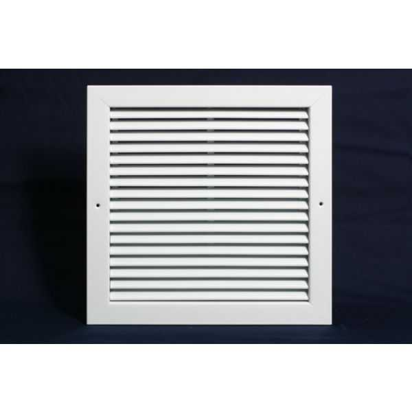 Grille Tech RA1414 - Aluminum Return Air Grille, 14' X 14' White