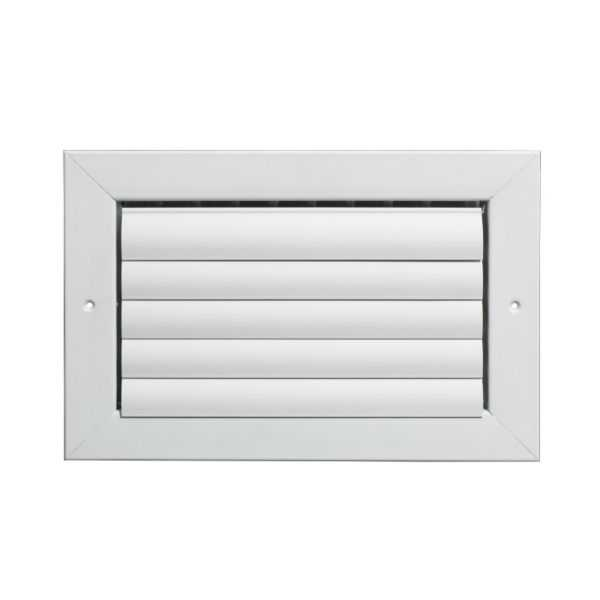 Grille Tech CL1M1208 - Aluminum Ceiling 1-Way Deflection Supply, Multi-shutter 12' X 8' White