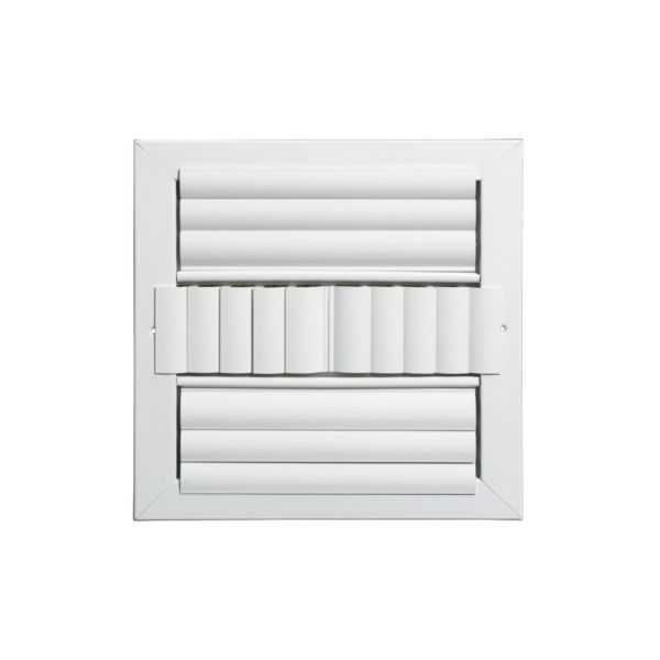 Grille Tech CL4M0808 - Aluminum Ceiling 4-Way Deflection Supply, Multi-shutter 8' X 8' White