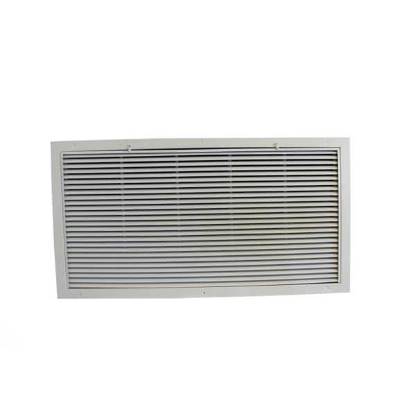 Grille Tech RAFGS3618 - Aluminum Return Air Filter Grille, Grille Size 36' X 18' White