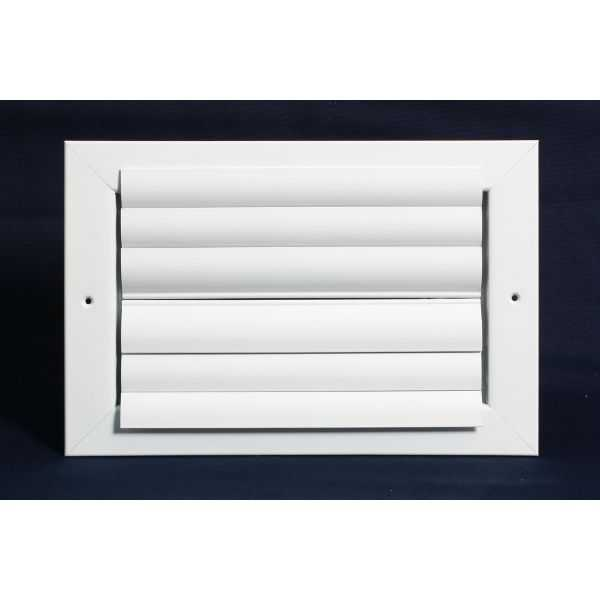 Grille Tech CL2M1010 - Aluminum Ceiling 2-Way Deflection Supply, Multi-shutter 10' X 10' White