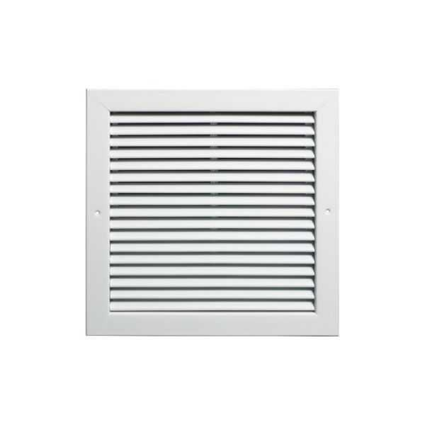 Return Air Filter-Back Grille, Steel, 12' X 12' White