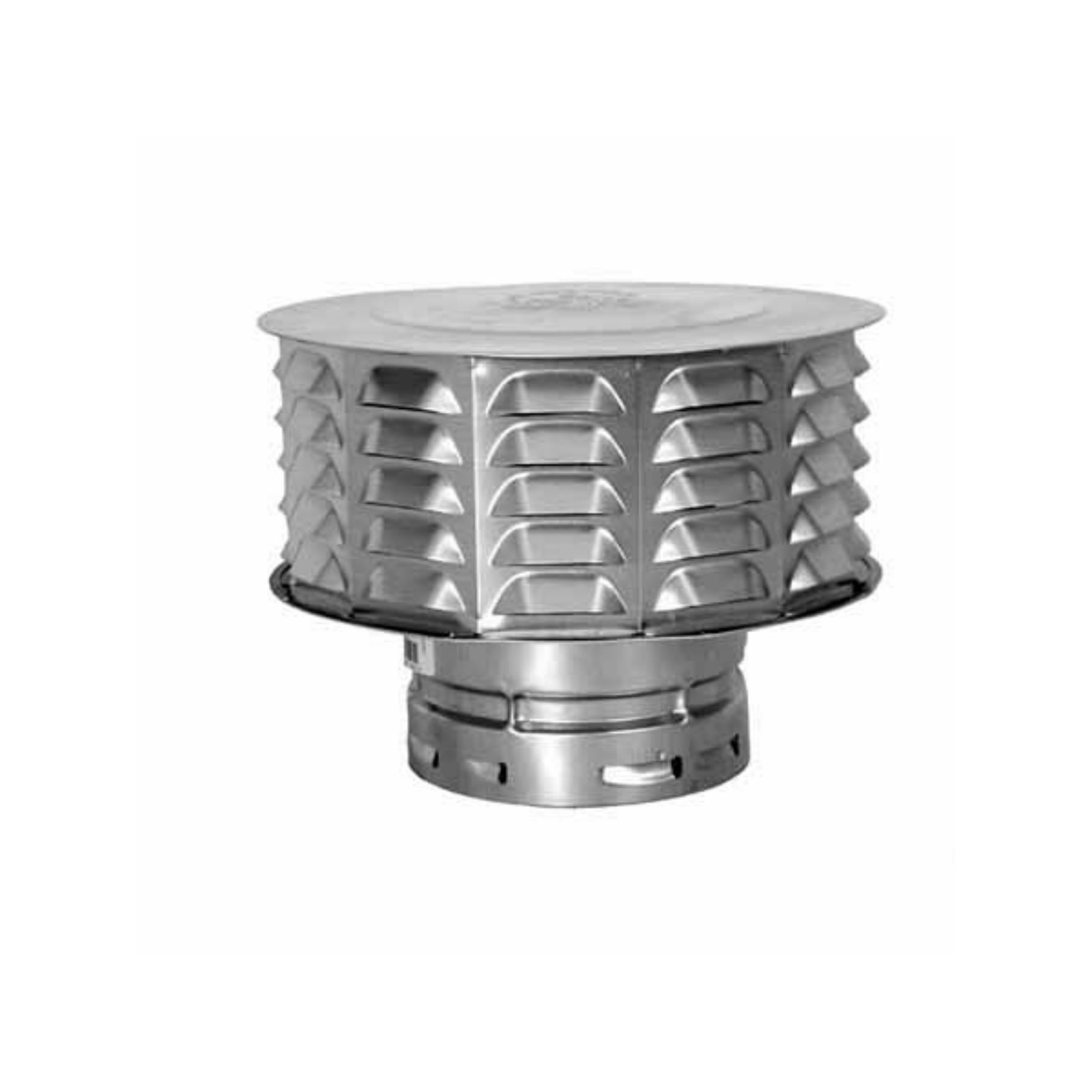 "AmeriVent 6ECW - Snap-lock Cap 6"", Locking, Louvered"