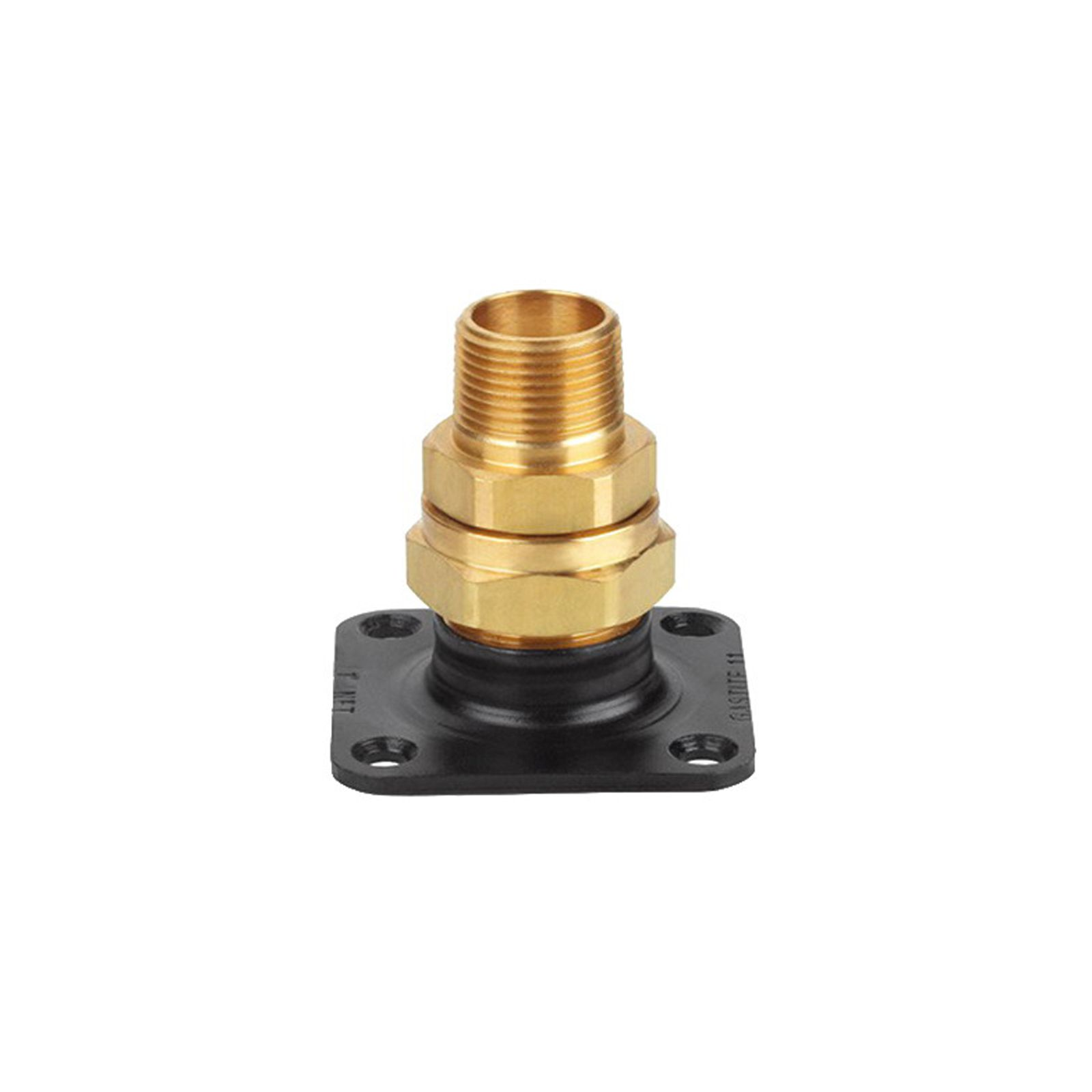 "Gastite XR3TRM-8-12 - 1/2"" XR3 Termination Fitting With Square Flange, 1/2"" NPT"